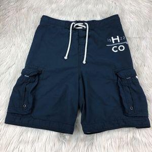 Hollister Navy Swim Trunks Board Shorts